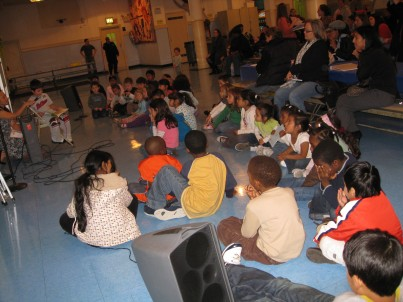 Students at P.S. 130 at Create a Book Event
