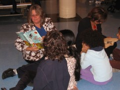 Ms. Fera reading a book