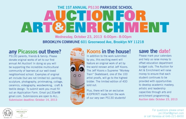 PS 130 Auction for Art & Enrichment