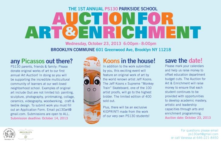 PS 130 Auction for Art & Enrichment