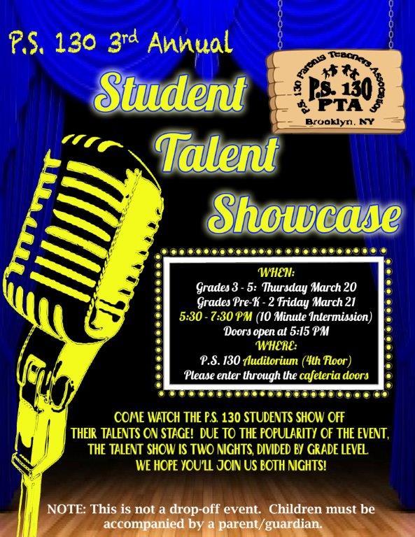 PS 130 Talent Show