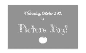 Picture Day: Order Forms Due By Tuesday, October 28th!
