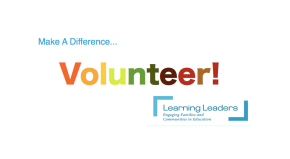 Learning Leader Volunteer