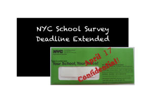NYC School Survey Deadline Extended