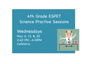 4th Grade ESPET Science Practice Sessions