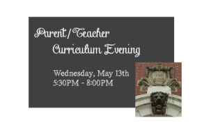 Parent/Teacher Curriculum Evening