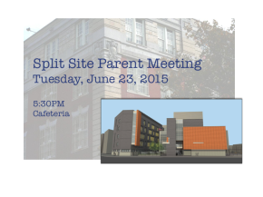 PS 130 Split Site Parent Meeting