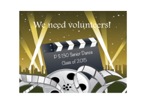 We Need Volunteers!