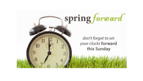Daylight Savings Time StartsSunday