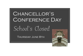 School's Closed: Thursday, June 8th
