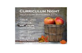 Curriculum Night