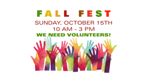 Fall Fest! Sunday, October 15th!!
