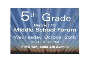 District 15 Middle School PrincipalsForum