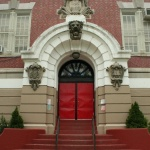 front of the PS 130 lower school building