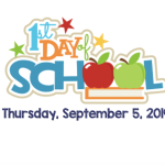 1st Day of School Thursday, September 5, 2019